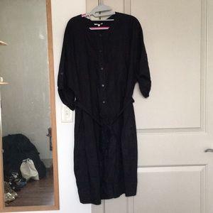 Eileen Fisher blue linen dress size 2X